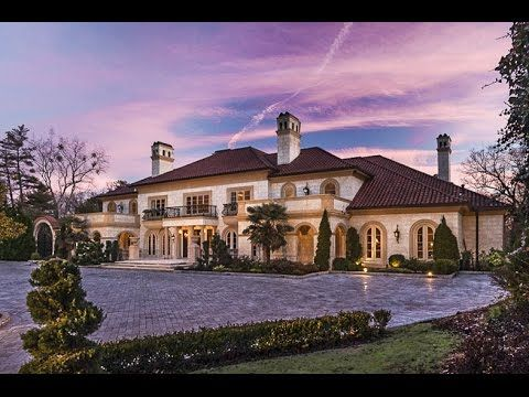 25 MILLION DOLLAR MEDITERRANEAN ESTATE - Luxury Mansion Tour in Atlanta Georgia - YouTube
