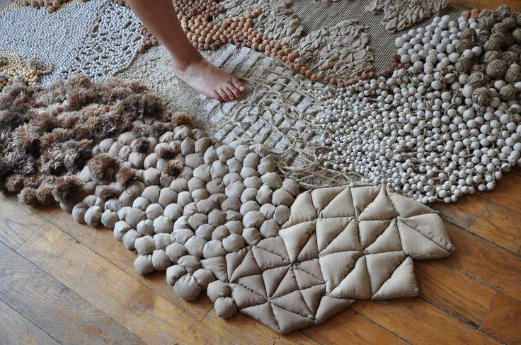 """""""Déambulations"""" par Frédérique Breuillé  Design d'intérieur et textile 2012 une cartographie sensorielle"""