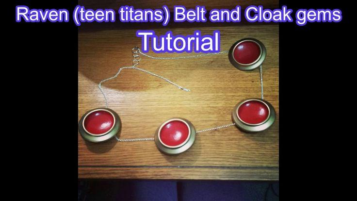 Raven [Teen Titans] Belt & Cloak gems cosplay tutorial