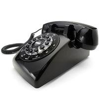 Black Dreyfuss 500 Desk Telephone   Wild & Wolf
