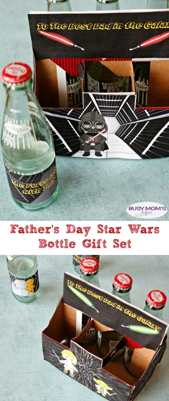 Father's Day Star Wars Bottle Gift Printable Set / by http://BusyMomsHelper.com / a Great Star Wars Dad Gift!