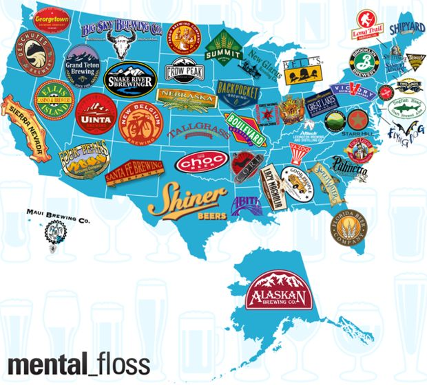 The Largest Craft Brewery Per State | Mental Floss