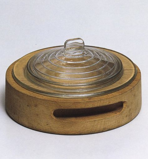 Aino Aalto; 'Bölgeblick' Butter Dish for Karhula, 1932.