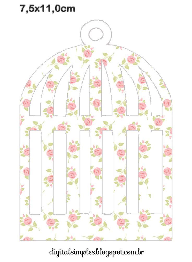"Kit de Personalizados Tema ""Passarinhos"" para Meninas para Imprimir - Convites…"