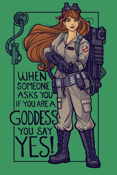 Ghostbuster Goddess Art Print