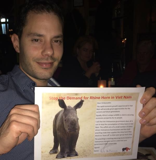 Thank you Paolo - your support means so much to rhinos!