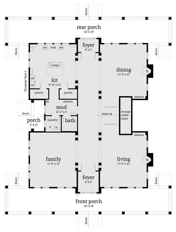 Simple One Storey House Design: Farmhouse Style House Plan