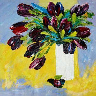 les 25 meilleures idées de la catégorie tulipes dans un vase sur