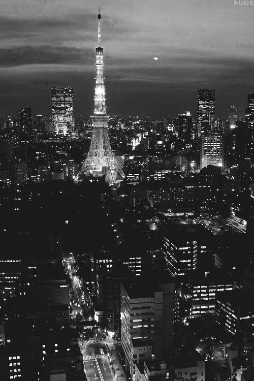 Paris at night gif.