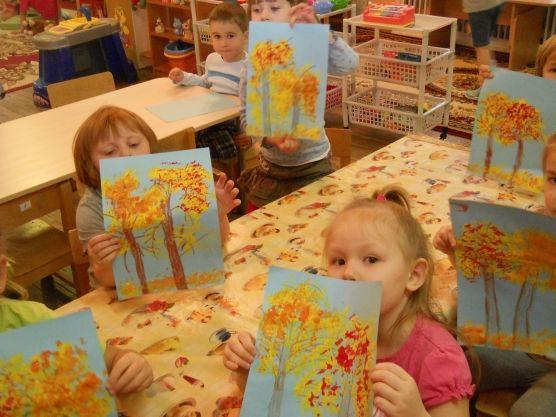 Краски осени. Нетрадиционные методы рисования - Для воспитателей детских садов - Маам.ру