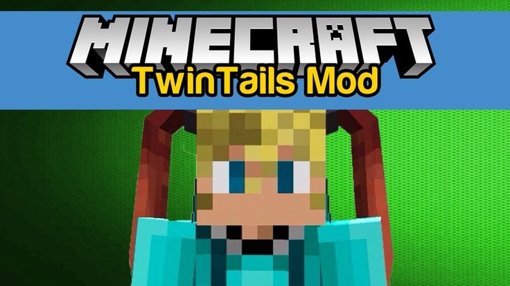 """TwinTails Mod 1.11.2/1.10.2 for Minecraft changes your character become more """"cool"""" with a new fashion item.  Simply, it just adds to Minecraft a decorating article which can be equipped in slot hat, TwinTails Mod will..."""