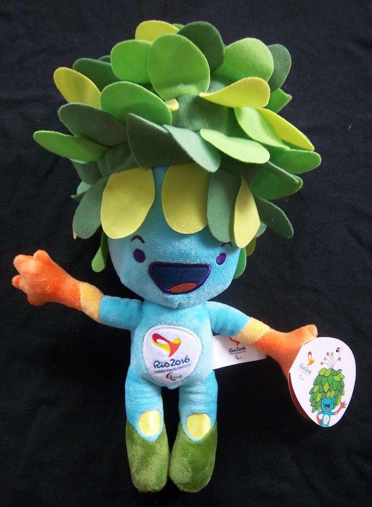 Orig.Maskottchen   Paralympische Spiele RIO DE JANEIRO 2016 - TOM / 35 cm ! TOP