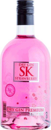 SK STRAWBERRY PREMIUM DRY GIN Ginebra seca con infusión de fresas. Elaborada de forma artesanal a partir de una selección de materias primas de primera calidad. #gin #fresa #strawberry