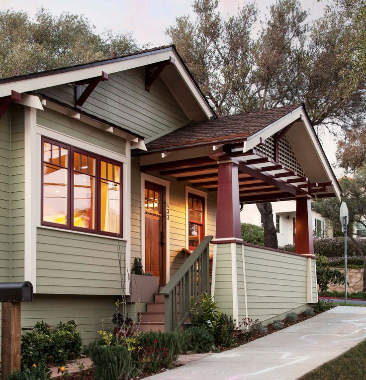the perfect paint schemes for house exterior - Craftsman Bungalow Home Exterior