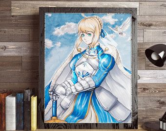 PRINT - Saber from Fate (27,9x35,6cm)