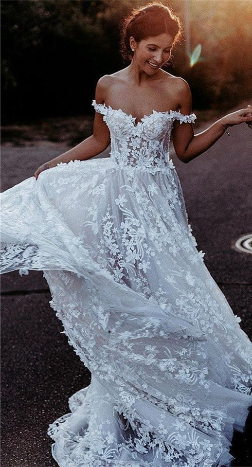 Custom Applications A Line Tulle Bridal Gown with Flower