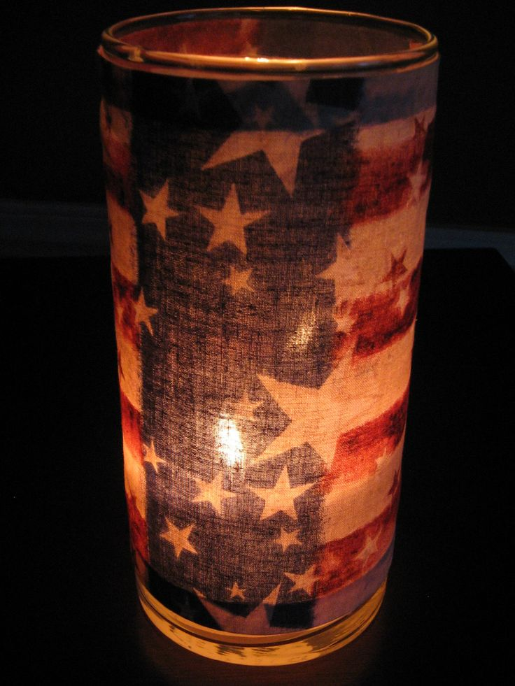 American Flag Decorative Candle