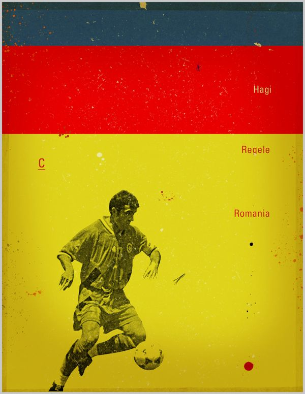 Famous Footballers on Behance - Hagi