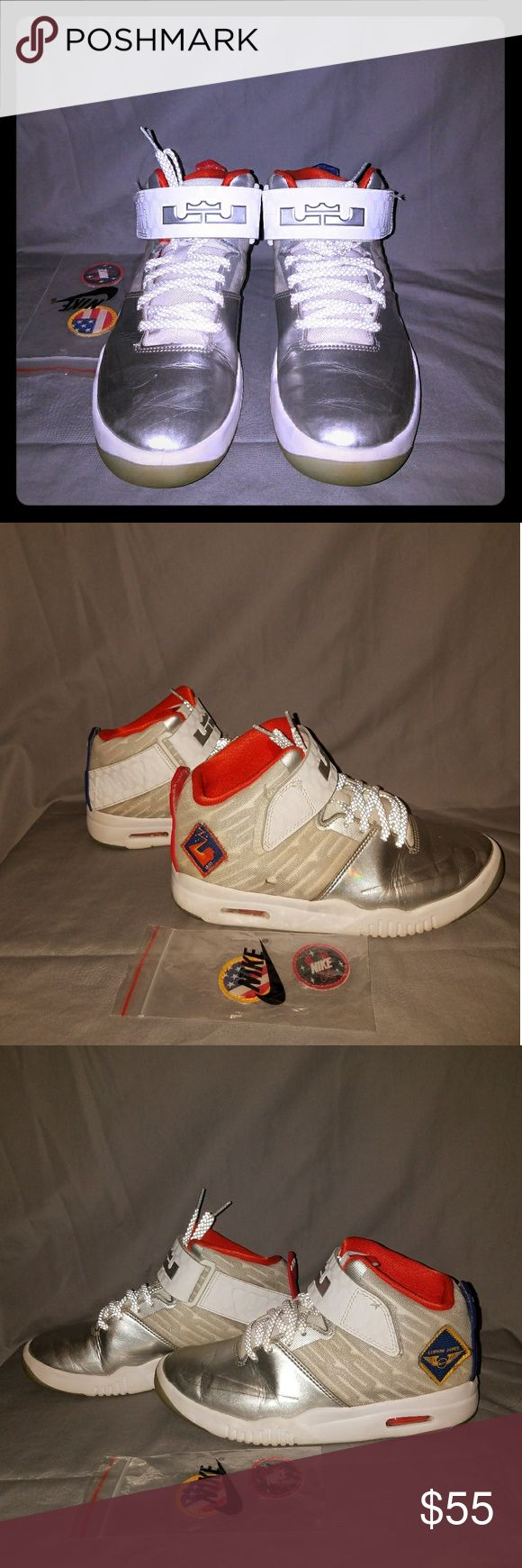 Nike LeBron Akronites Boys LeBron James Akronites with 4 Removable patches Nike Shoes Sneakers