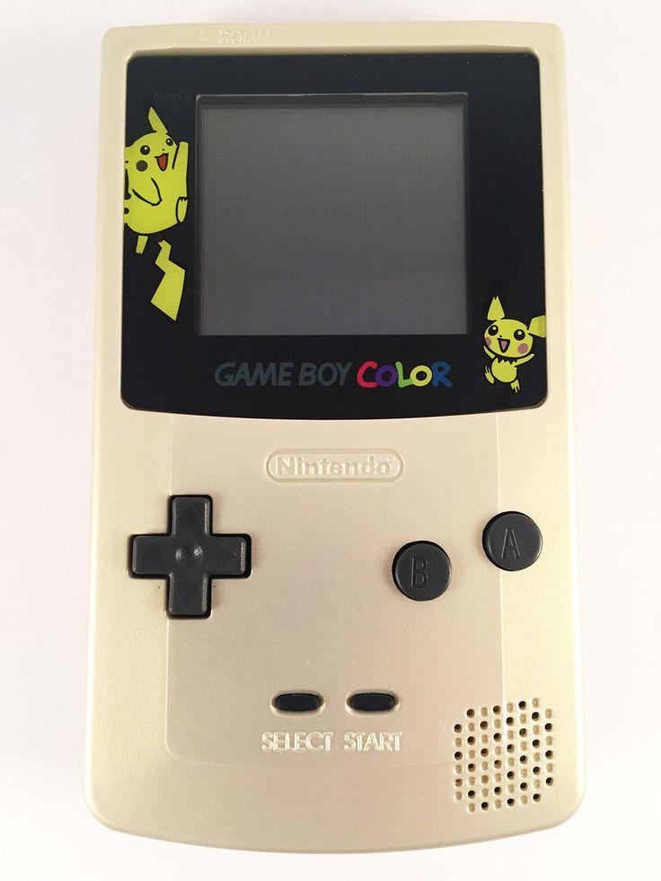 NINTENDO GAME BOY COLOR - Gold Pokemon Edition Gameboy Colour FULLY REFURBISHED | eBay