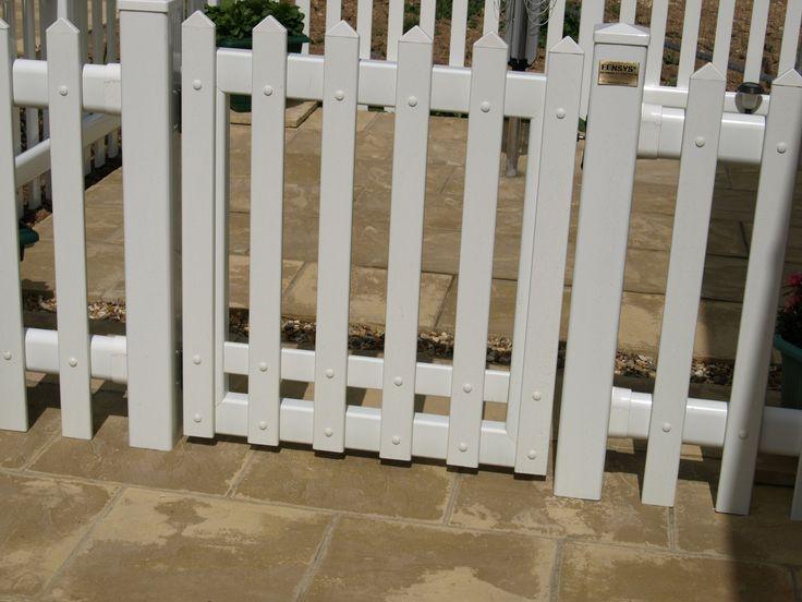 Fensys UPVC white plastic picket fence gate