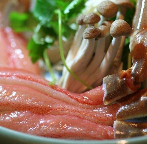 カニしゃぶ() やっぱりこの時期はカニに かぎりますね #delicious #Crab shabu-shabu #鍋#pot