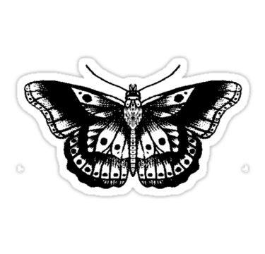 Harry Styles' butterfly tattoo. • Also buy this artwork on stickers and phone cases.