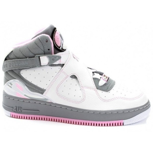 quality design 89912 f817b ... Featured Shoes Air Jordan Fusion VIII Gray Pink Sneakers ❤ liked on  Polyvore ...