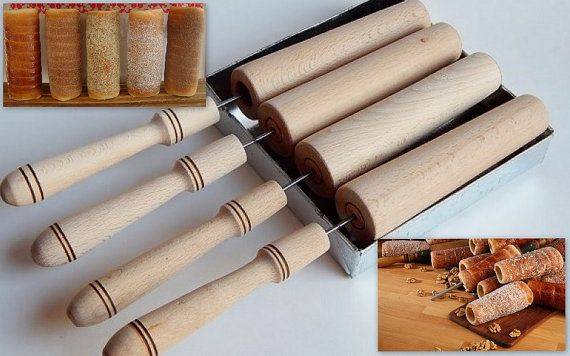 Hungarian Chimney Cake Maker for Kitchen use by nunuart on Etsy