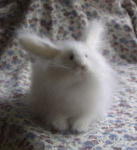 Stuffed Animals by Natasha Fadeeva - big white rabbit toy