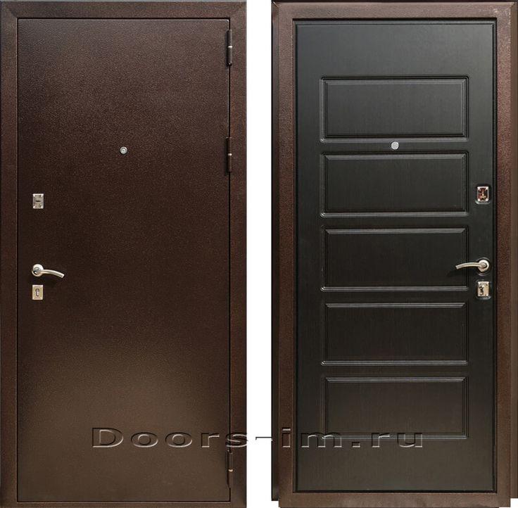 Входная металлическая дверь ЗЕТТА ЭКСТРА 2 (темный венге) | Двери Зетта с доставкой и установкой!