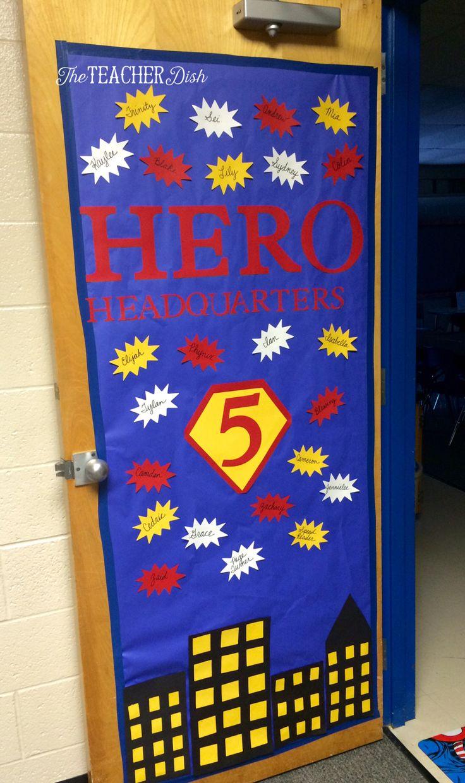 Classroom Decoration Superhero ~ Best superhero classroom door ideas on pinterest