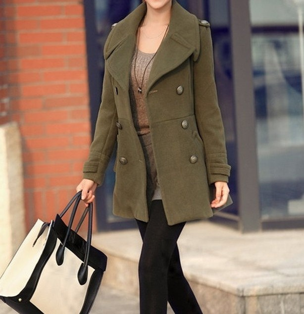 Best 25  Green wool coat ideas on Pinterest | Women's coats, Green ...