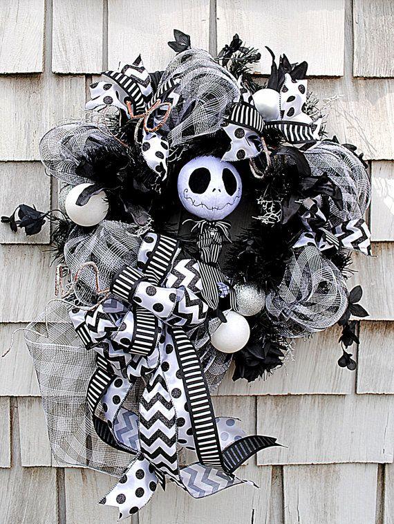 Nightmare Before Christmas Wreath for the by TisTheSeasonDesign