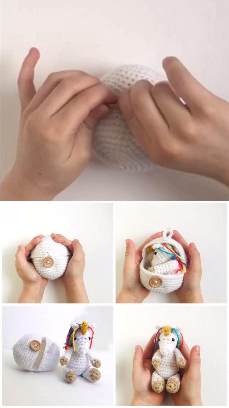 Hatching Crochet Unicorn Egg Pattern