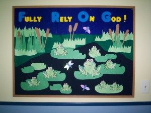 "summer bulletin board ideas for preschool church | Bulletin Board by Jessica - Visit her blog ""The Road to Radcliffe Pond ..."