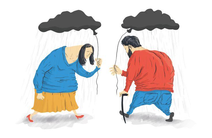 People in depression.. by Dolynda