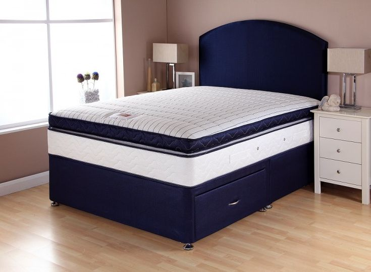 airsprung catalina pocket box top 4ft6 double divan bed by airsprung beds - Bed Box Frame