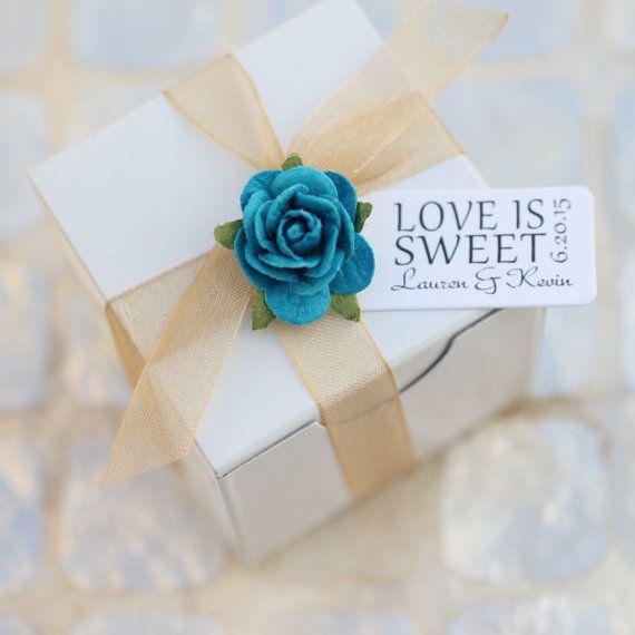 LOVE IS SWEET - gepersonaliseerde labels, bruiloft gunst tags, diy bruiloft decoratie leest bruiloft gunst label