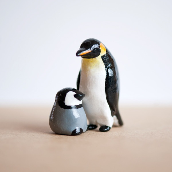 Le mama & baby penguin set. Awesome for mother's day!