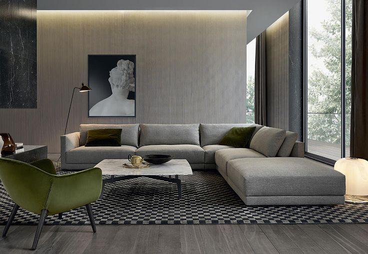 Poliform, collezione Bristol - divano Bristol con doppia cuscinatura