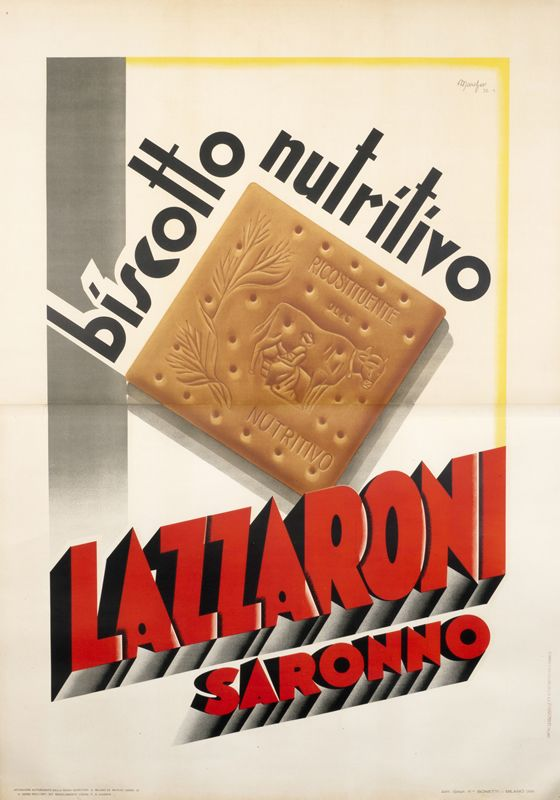 Lazzaroni Biscotto Nutritivo by Marchesi | Shop original vintage posters online: www.internationalposter.com
