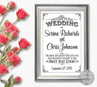 おしゃれな書体が映える♡個性的な結婚式に♡モノトーンのウェルカムボードまとめ一覧♪