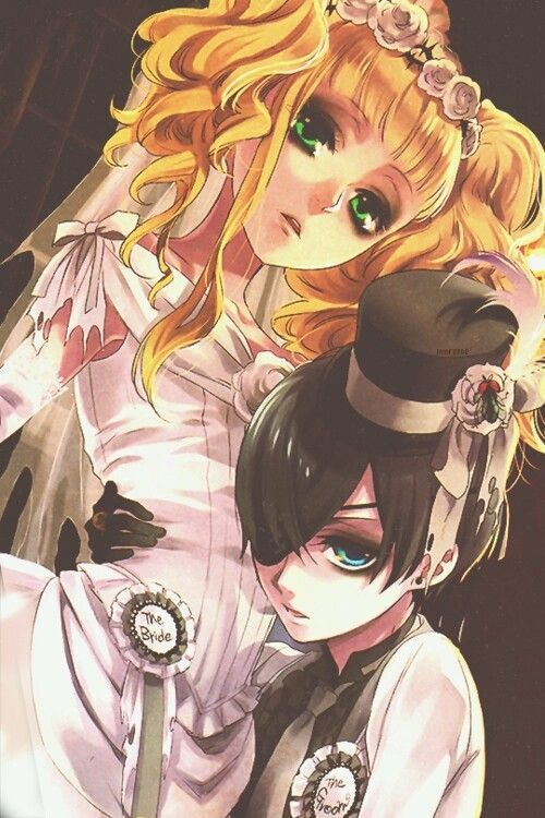 Though I know Sebastian x Ciel is a thing, can't deny the Elizabeth x Ciel canon ship is adorable too.