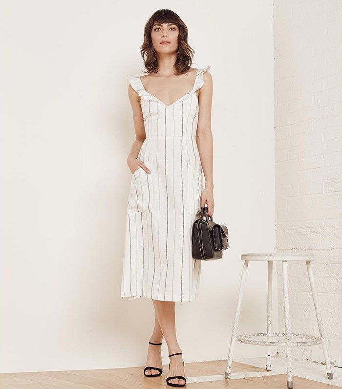 Dress and Loafers: Meet Your New Favourite Summer Office Outfit via @WhoWhatWearUK