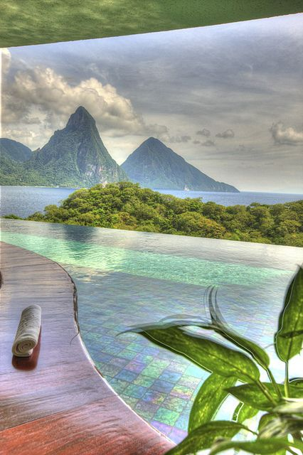 Jade Mountain on St.Lucia island