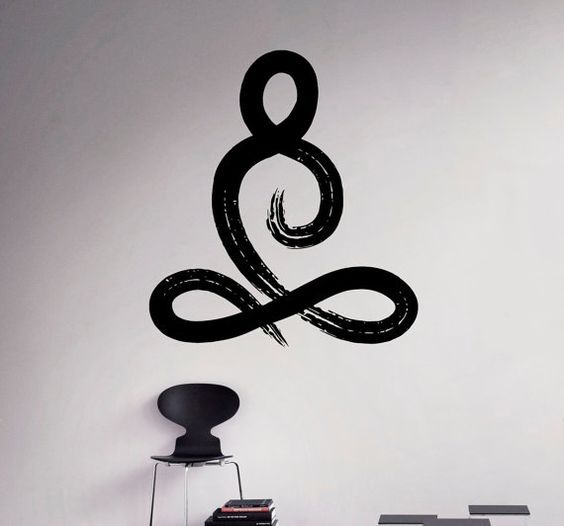 Symbool van Yoga Pose Vinyl Decal Yoga Studio muur Sticker Decor woonkamer muur muurschilderingen Housewares 16(yga)