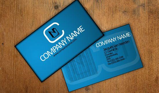 Business card template1  | template Photoshop PSD Kartu Nama Unik Menarik Cantik