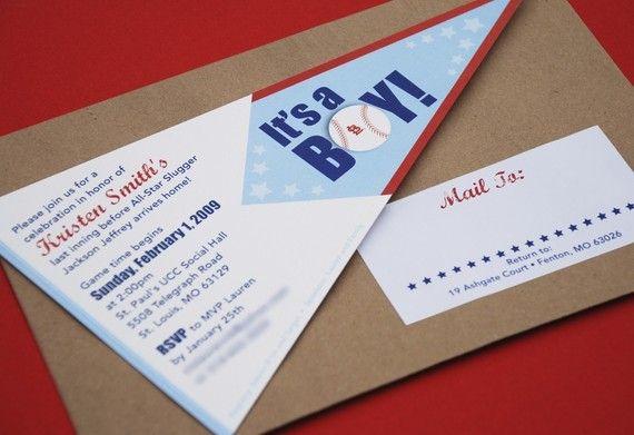 Design Fee  Baseball Pennant Baby Shower by beyonddesign on Etsy, $40.00