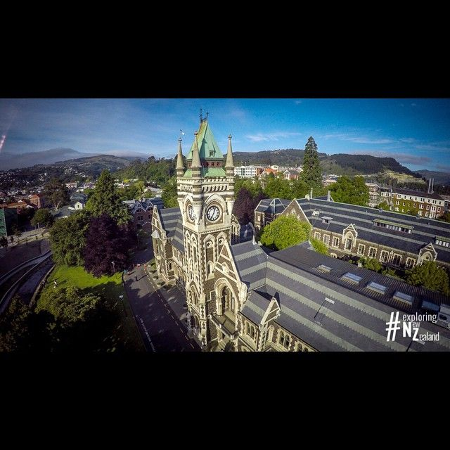Otago University - Clock Tower Building. Dunedin, New Zealand